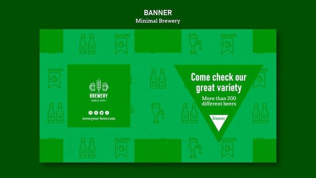 Modello di banner orizzontale per degustazione di birra