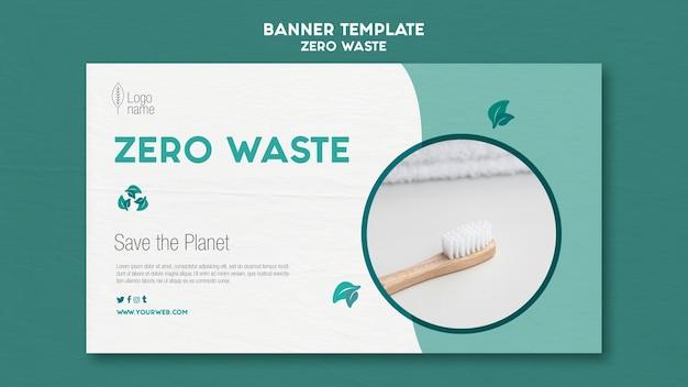 Modello di banner orizzontale zero waster
