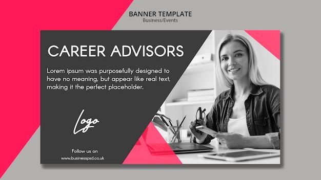 Modello di banner per consulenti di carriera