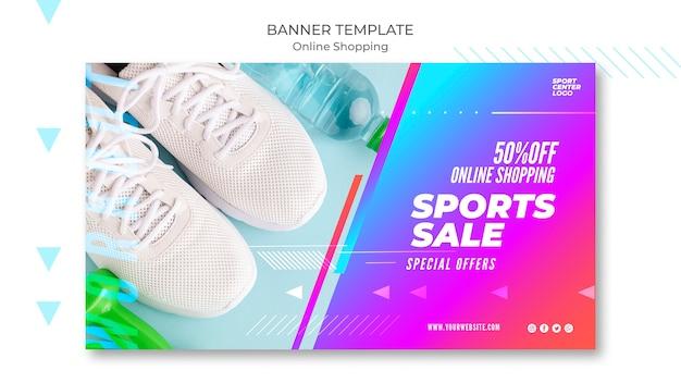Modello di banner per la vendita di sport online
