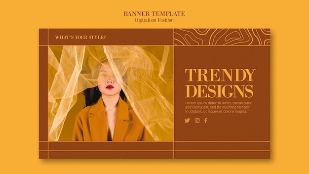 Modello di banner per lo stile di vita della moda