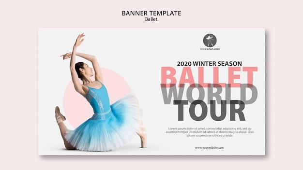 Modello di banner per spettacoli di balletto