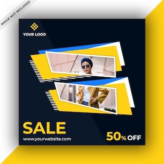 Modello di banner post vendita social media sociali