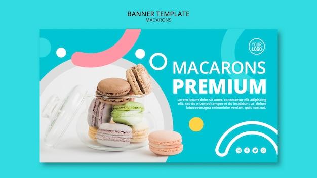 Modello di banner premium deliziosi macarons