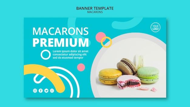 Modello di banner premium di macarons