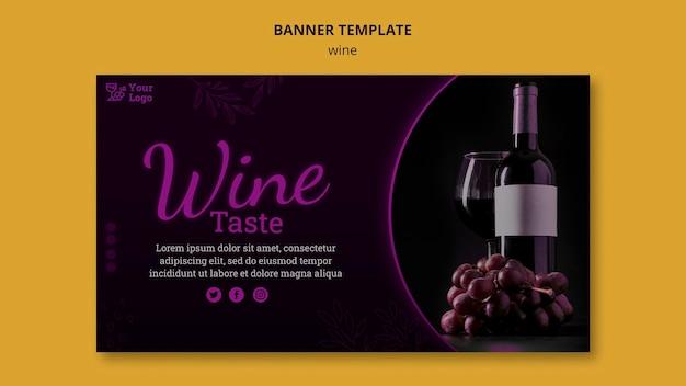 Modello di banner promozionale del vino
