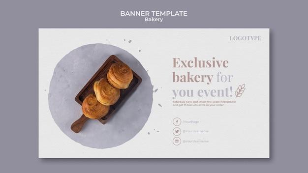 Modello di banner pubblicitario di panetteria