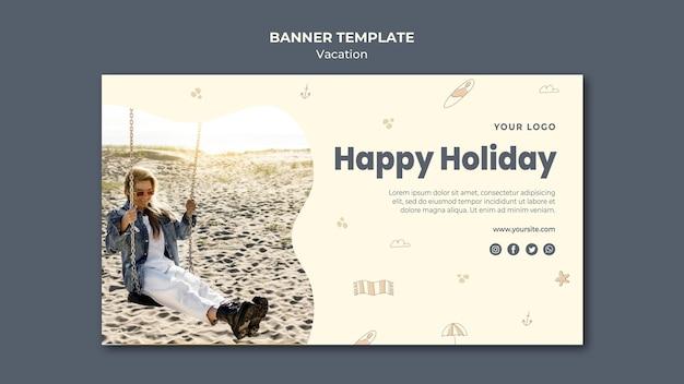 Modello di banner pubblicitario per le vacanze