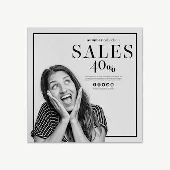 Modello di banner quadrato di vendita
