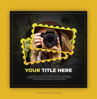 Modello di banner quadrato per fotografo
