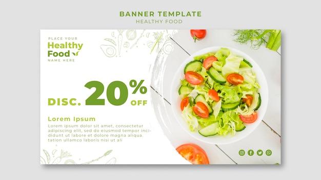 Modello di banner ristorante cibo sano