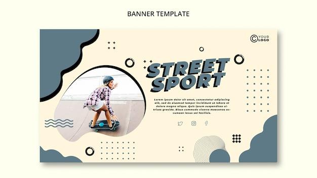 Modello di banner sport di strada