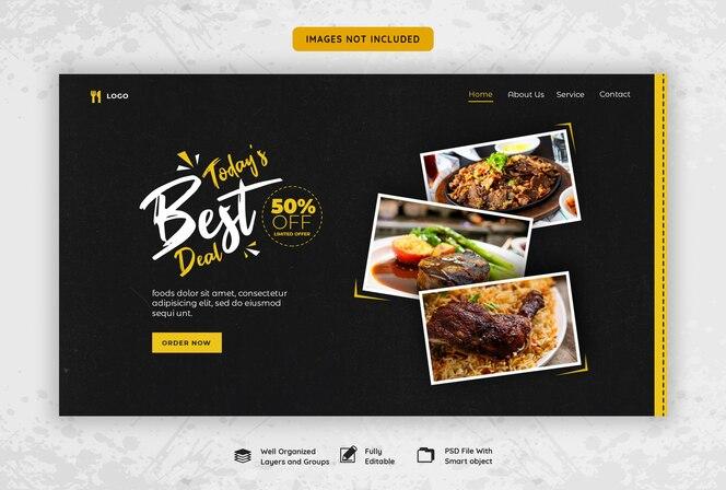 Modello di banner web alimentare