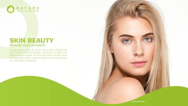Modello di banner web con il concetto di bellezza