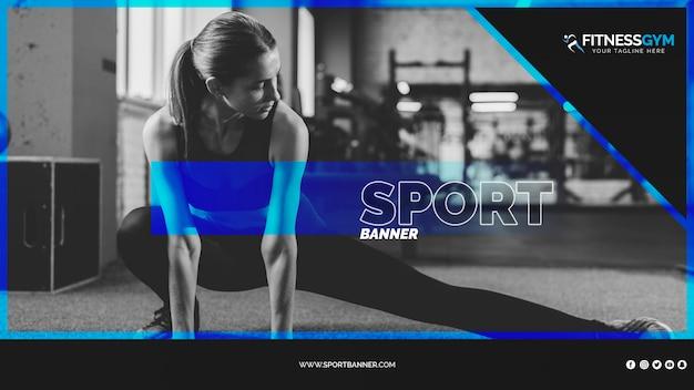 Modello di banner web con il concetto di sport