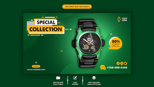 Modello di banner web di vendita di prodotti di promozione