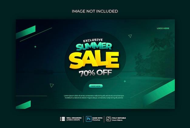 Modello di banner web distintivo di vendita banner