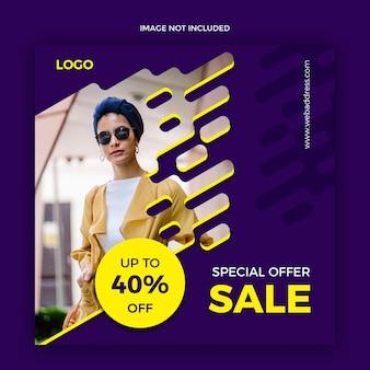 Modello di banner web media sociali di vendita
