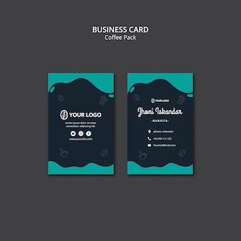 Modello di biglietto da visita con design di caffè