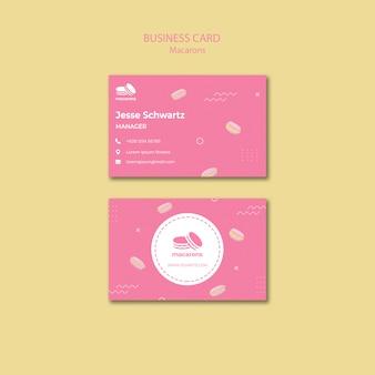 Modello di biglietto da visita con tema macarons