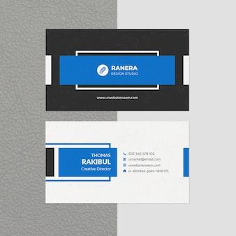 Modello di biglietto da visita creativo moderno
