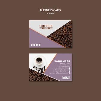 Modello di biglietto da visita di tempo del caffè
