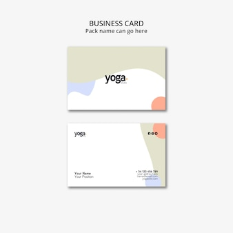 Modello di biglietto da visita minimalista di yoga