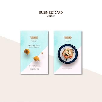 Modello di biglietto da visita per ristorante brunch