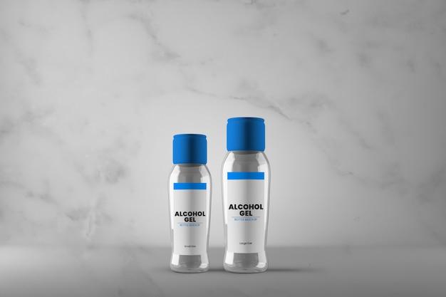 Modello di bottiglia di gel di alcol di due dimensioni diverse