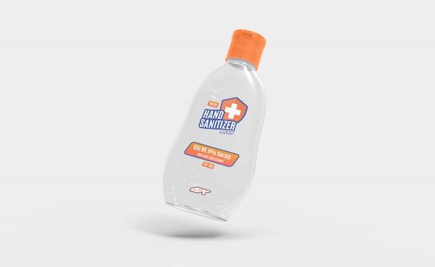 Modello di bottiglia di gel disinfettante per le mani