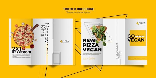 Modello di brochure a tre ante per pizzeria