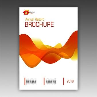 Modello di brochure arancione