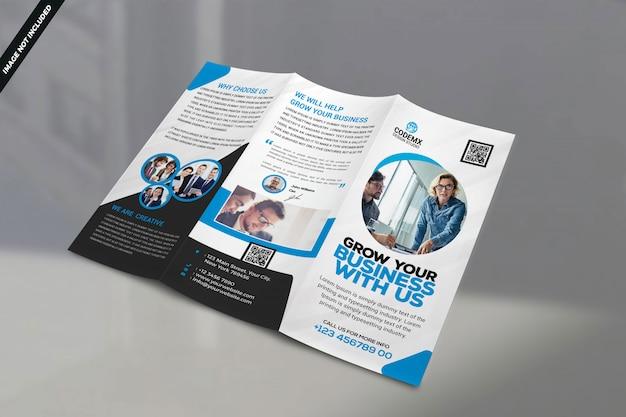 Modello di brochure aziendale su un lato