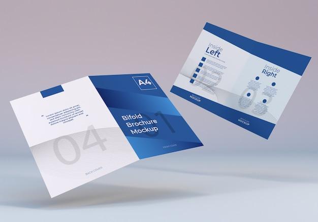 Modello di brochure pieghevole bifold a4