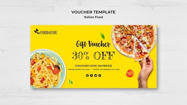 Modello di buono concetto di cibo italiano