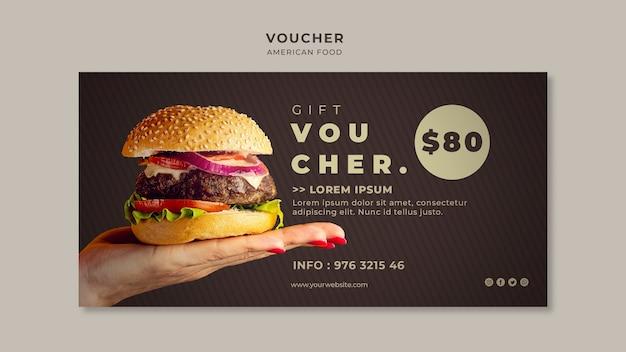 Modello di buono hamburger