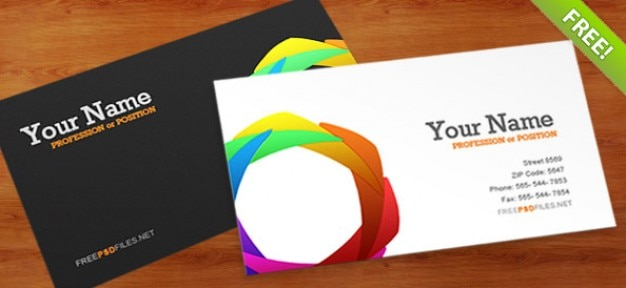 Modello di business card psd