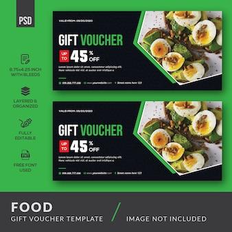 Modello di carta del buono regalo alimentare
