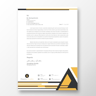 Modello di carta intestata moderna professionale