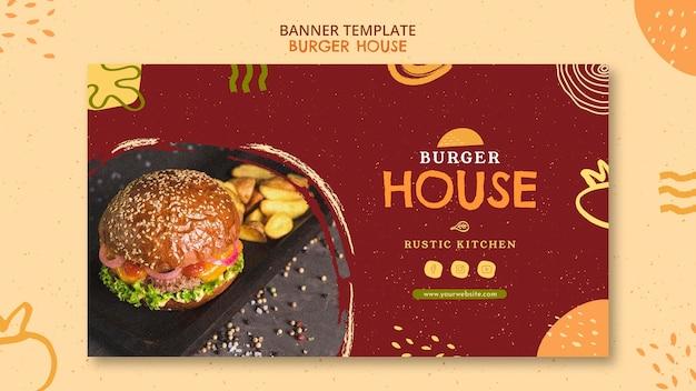 Modello di casa di hamburger