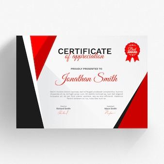 Modello di certificato moderno