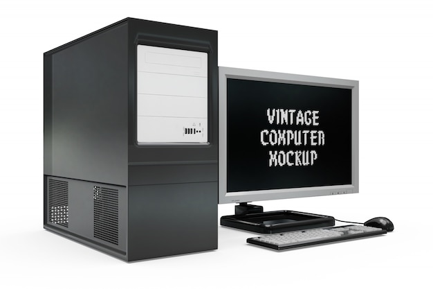 Modello di computer vintage isolato