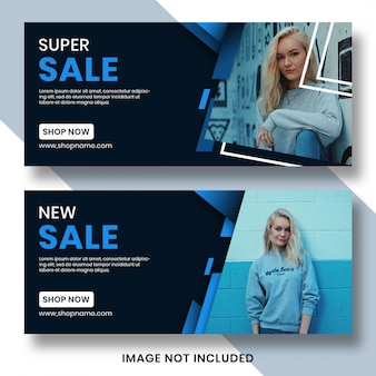 Modello di copertina di facebook banner di vendita
