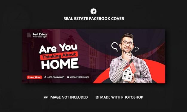 Modello di copertina di facebook immobiliare