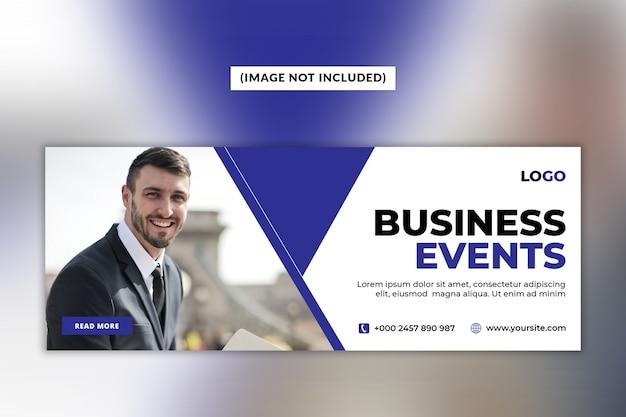Modello di copertina di facebook per eventi aziendali