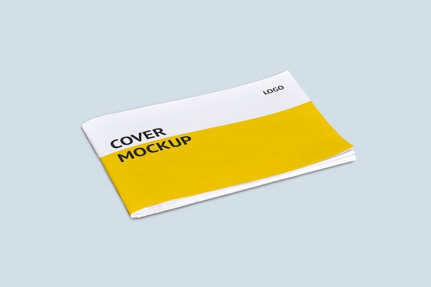 Modello di copertina di paesaggio mock-up