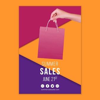 Modello di copertina di vendite estive