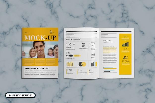 Modello di copertina e brochure