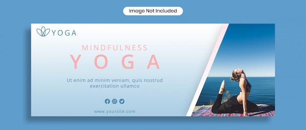 Modello di copertina facebook yoga