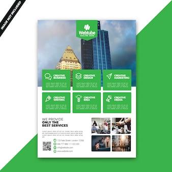 Modello di corporate flyer aziendale